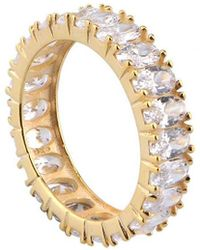 Gabi Rielle 22k Over Silver Cz Ring - Metallic