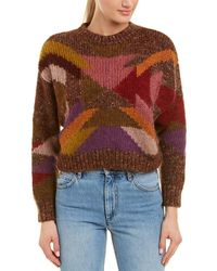 Isabel Marant Wool & Mohair-blend Jumper - Red
