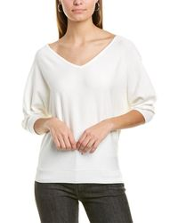 Premise Studio Dolman Sweater - White