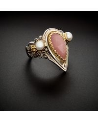 Konstantino - 18k & Silver 2.50 Ct. Tw. Agate & 3-4mm Pearl Ring - Lyst