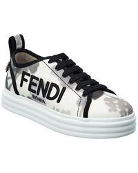 Fendi Rise Canvas Sneaker - White