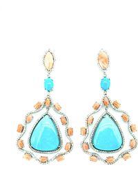 Arthur Marder Fine Jewelry - Silver 2.10 Ct. Tw. Diamond & Gemstone Earrings - Lyst