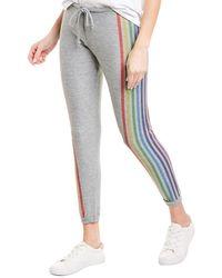 Chaser Rainbow Stripe Pant - Grey