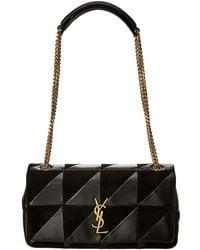 ff85ab2f6bb Saint Laurent - Medium Jamie Patchwork Leather & Suede Shoulder Bag - Lyst