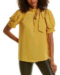 Gracia Tie-neck Top - Yellow
