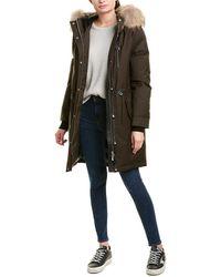 Mackage Rena Leather-trim Coat - Green