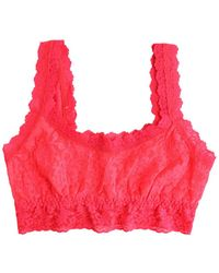 Hanky Panky Signature Lace Crop Tank - Red