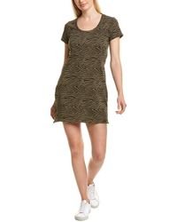 Bobi Zebra Mini Dress - Green