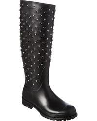 Saint Laurent Studded Festival Rain Boot - Black