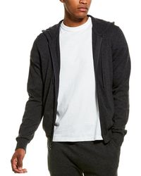 Phenix Jersey Full Zip Cashmere-blend Hoodie - Grey