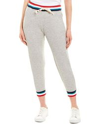 Sol Angeles Flag Cropped Jogger - Gray