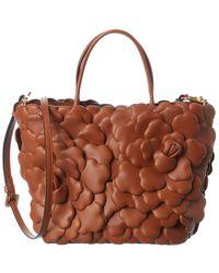 Valentino Garavani Leather Tote - Brown