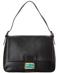 Fendi Black Leather Mamma Bag