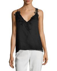 Lanvin Lace V-neck Top - Black