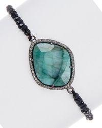 Adornia - Fine Jewelry Silver Gemstone Stretch Bracelet - Lyst