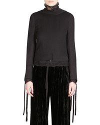 Ann Demeulemeester Back Front Jacket - Black