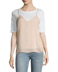 Lucca Couture Washed Satin Camisole - Multicolor