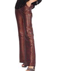 Cynthia Rowley Theo Jacquard Flare Pant - Red