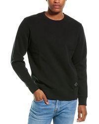 Ovadia Dune Distressed Crewneck Sweatshirt - Black