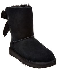 5a9a66f71ac Women's Customizable Bailey Bow Short Suede Boot - Black