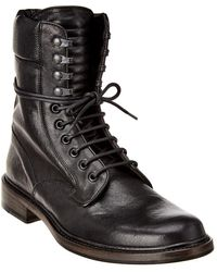 Rag & Bone Spencer Military Leather Boot - Black