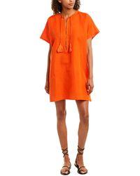 Emerson Fry India Collection Organic Linen Caftan - Orange