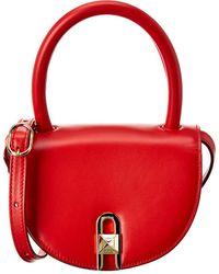 Salar Winnie Leather Crossbody - Red