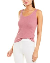 Vince Broomstick Pleat Tank - Pink