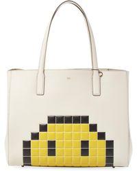 Anya Hindmarch Ebury Pixel Smiley Shopper Bag - Multicolour