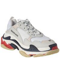 Balenciaga - Triple S Leather Sneaker - Lyst
