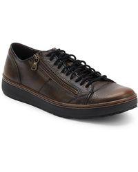 John Varvatos - Walnut Barrett Creeper Low Top Sneakers - Lyst