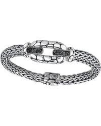 John Hardy - Kali Black Sapphire Oval Link Bracelet - Lyst