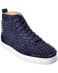 Christian Louboutin Louis Suede Sneaker - Blue