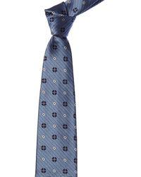 Ermenegildo Zegna Light Blue & Pink Squares Silk Tie