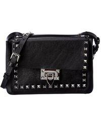 Valentino Rockstud Small Leather Shoulder Bag - Black
