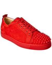 004308dc8f9 Louis Junior Spikes Suede Sneaker - Red