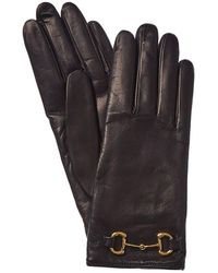 Gucci Horsebit Cashmere-lined Leather Gloves - Multicolour