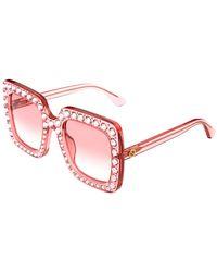 Gucci Women's Oversized Square 53mm Sunglasses - Pink