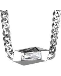 Swarovski Crystal Rhodium Necklace - Metallic
