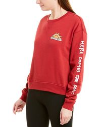 Betsey Johnson Here Comes The Sun Sweatshirt - Red