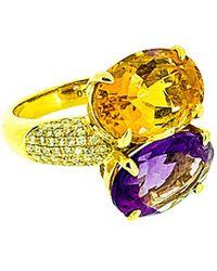 Arthur Marder Fine Jewelry 0.50 Ct. Tw. Diamond & Gemstone Ring - Yellow