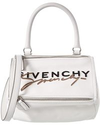 Givenchy Pandora Small Embroidered Leather Shoulder Bag - Multicolour