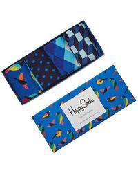 Happy Socks 4-piece Gift Box - Blue