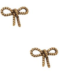 Marc Jacobs - Rope Bow Stud Earrings - Lyst
