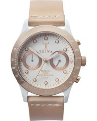 Triwa Women's Brasco Leather Strap Chronograph Watch - Metallic