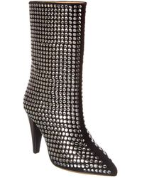 IRO Loofy Suede And Stud Boot - Black