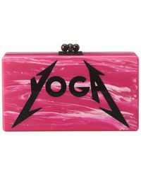 Edie Parker Jean Yoga Acrylic Clutch - Pink