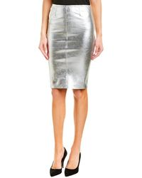 Zadig & Voltaire Jaden Leather Skirt - Metallic