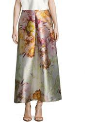 ABS By Allen Schwartz - Tafetta Floral Print A Line Skirt - Lyst