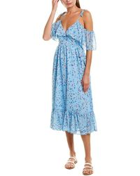 Tularosa Tia Wrap Dress - Blue